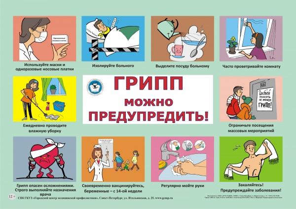 плакат грипп 2018