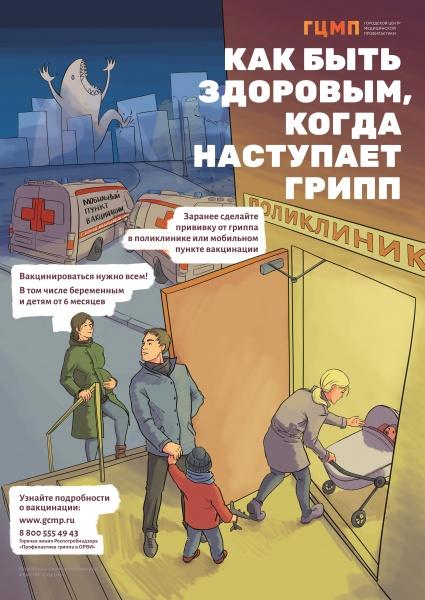 плакат грипп